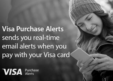 Realtime purchase alerts from Visa